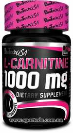 Карнитин BioTech USA L-Carnitine 1000 mg Спорт Еда